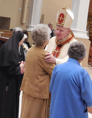 Sister Laurene and Bishop Hurley